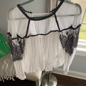 free people long sleeve blouse!